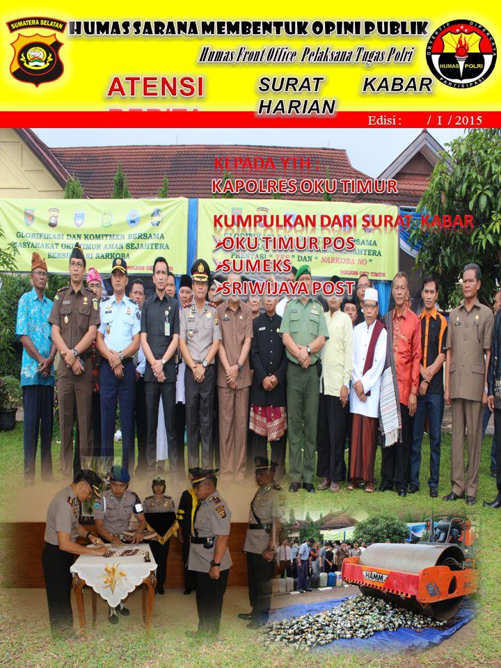 Martapura, November 2013 Edisi : / I / 2015