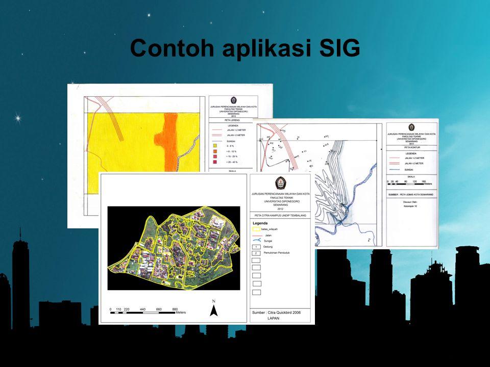Contoh aplikasi SIG