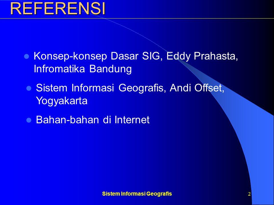 Sistem Informasi Geografis13Sistem Contoh: Organisasi sebagai suatu sistem Subsistem Manajamen Input Keputusan Subsistem Operasi Output Subsistem Informasi Public