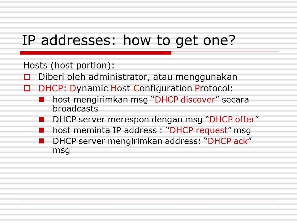 IP addresses: how to get one.
