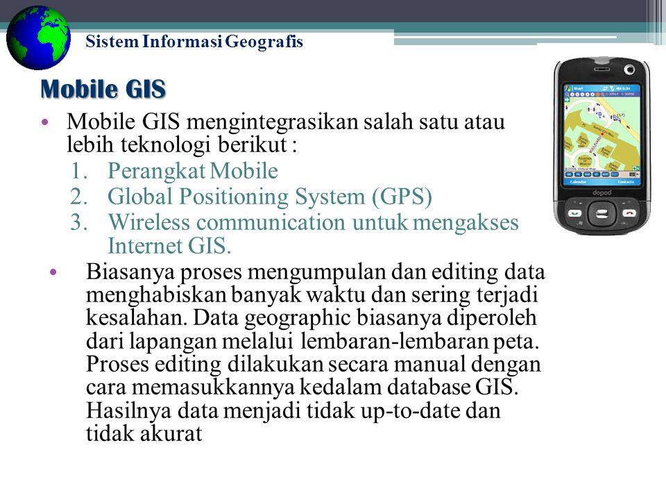 Sistem Informasi Geografis Mobile GIS Teknologi GIS (Geographic Information System) mengalami perkembangan yang sangat pesat.