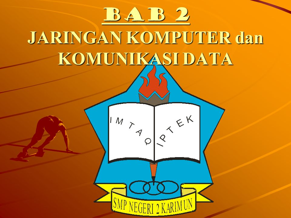 JARINGAN KOMPUTER (COMPUTER NETWORK) Hubungan dua buah komputer atau lebih yang bertujuan untuk melakukan pertukaran data dengan mudah
