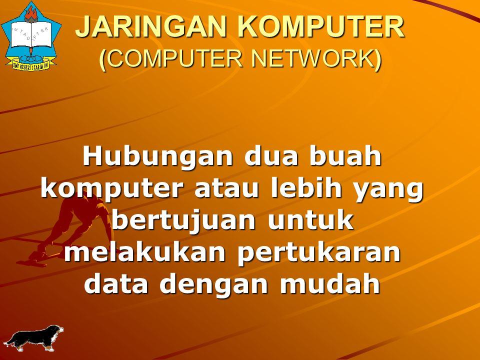 Jaringan Komputer Komputer Client 12 Komputer Server MANFAATMANFAAT