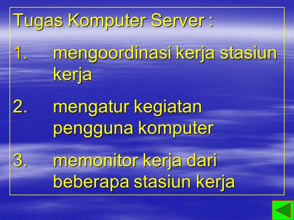 komputer yang menerima pelayanan dan terhubung dengan komputer server Komputer Client