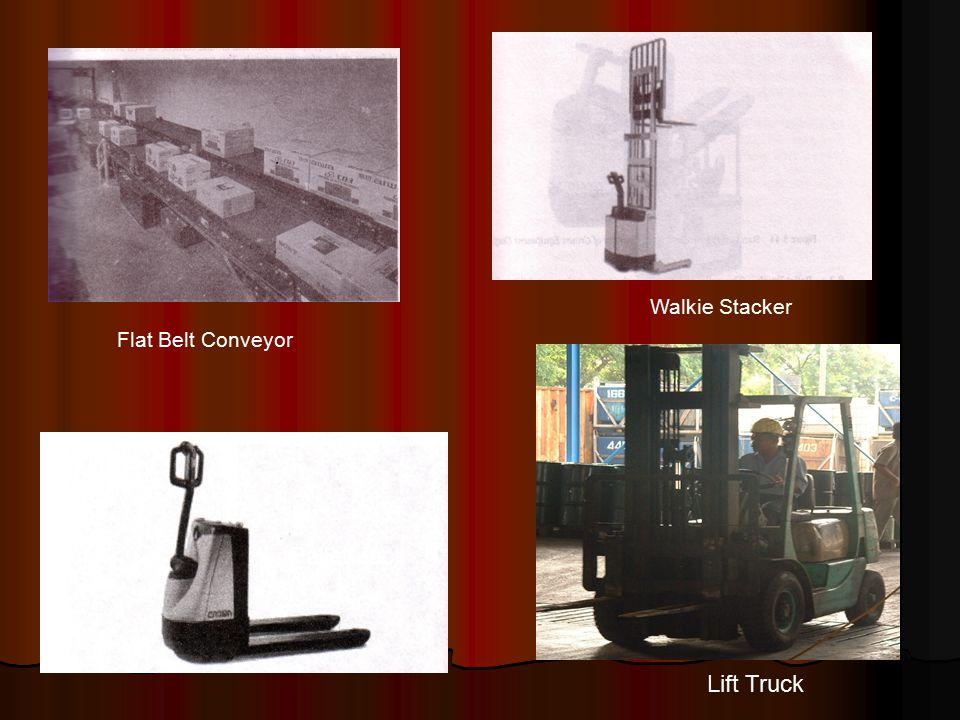 Flat Belt Conveyor Pallet Jack Walkie Stacker Lift Truck