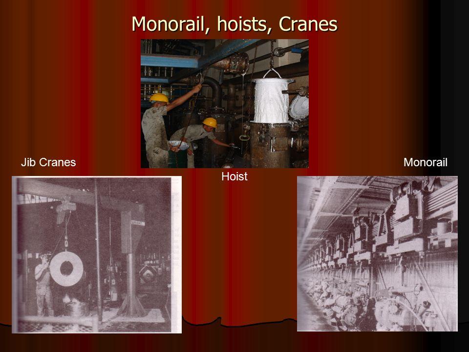 Monorail, hoists, Cranes Hoist Jib CranesMonorail