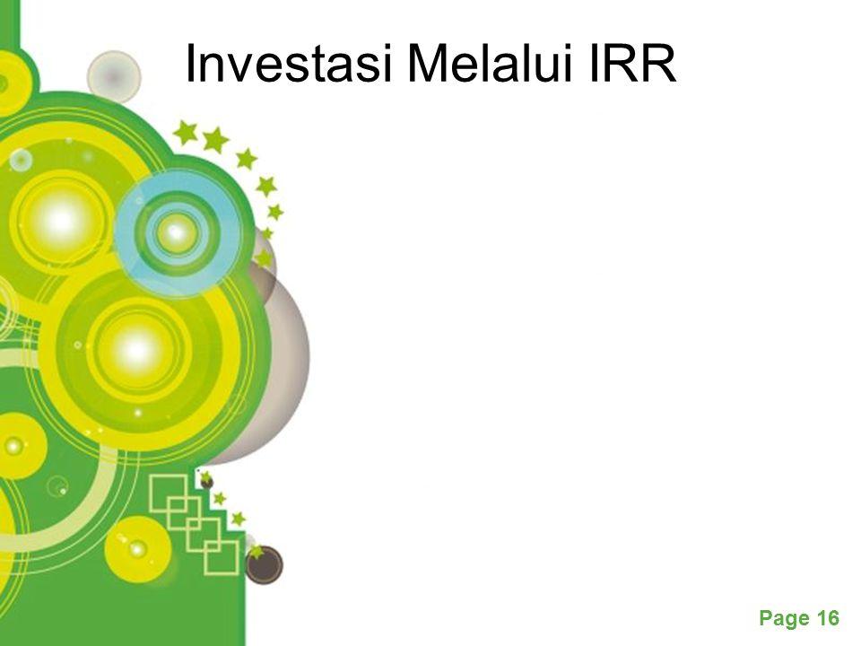 Powerpoint Templates Page 16 Investasi Melalui IRR