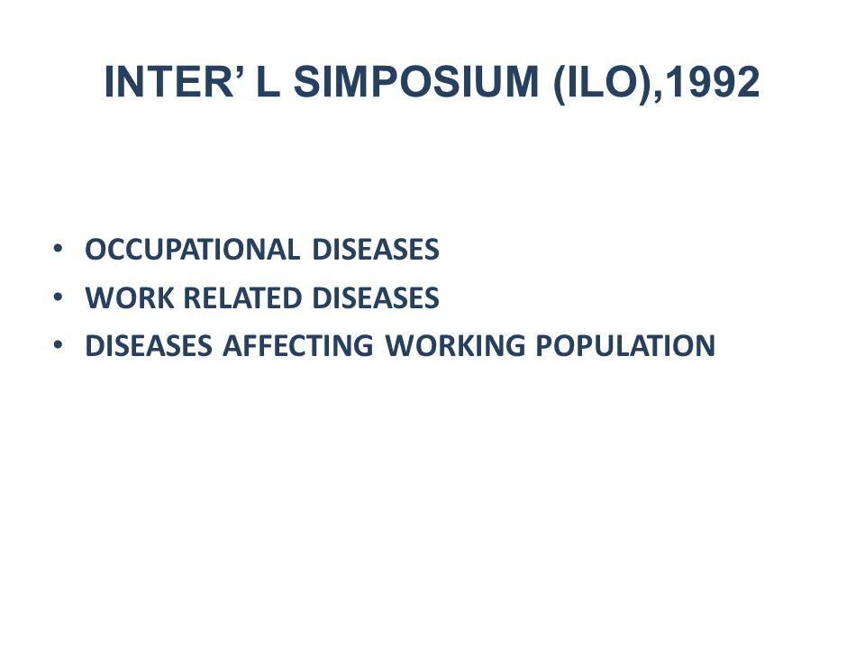 Ciri penyakit akibat kerja Berhubungan dengan pekerjaan/lingkungan kerja Lama kerja Tidak menular Tidak menurun Timbulnya lama Masyarakat tidak terkena Ada kaitannya dengan waktu libur/istirahat