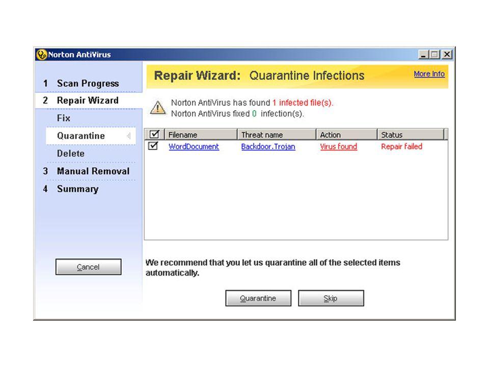 Beberapa Software Antivirus Norton Antivirus 2007 McAfee VirusScan Plus 2007 PC Tools Antivirus Windows Live OneCare F-Prot Antivirus Kapersky AVG Antivirus