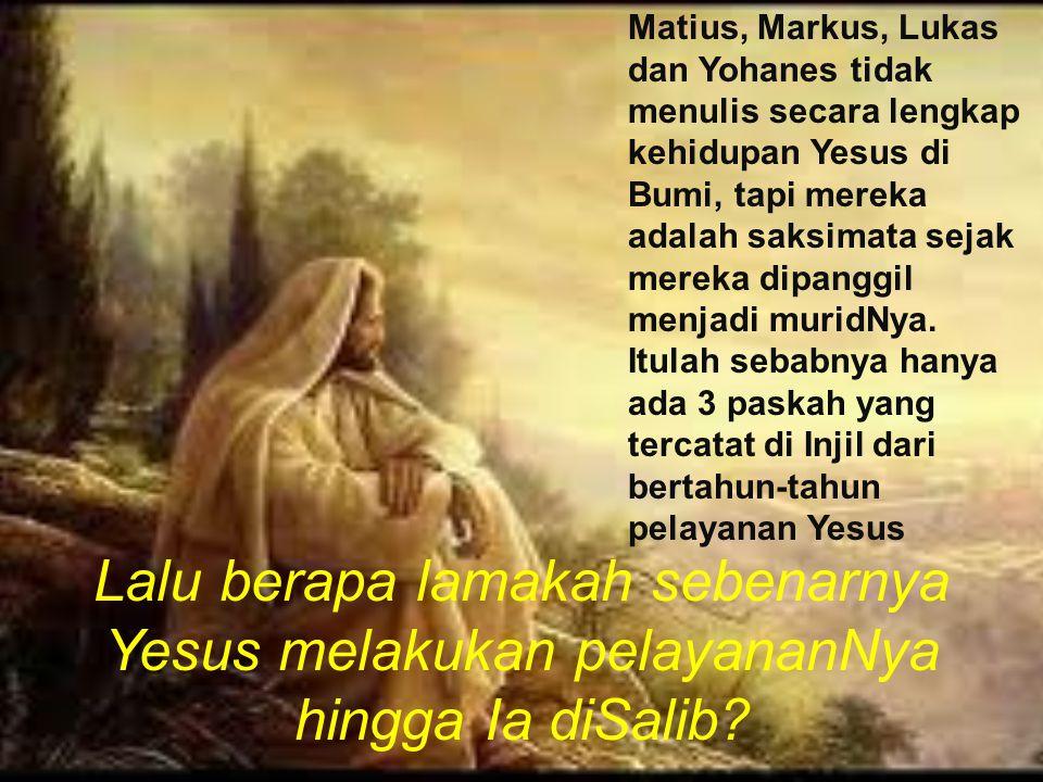 Matius, Markus, Lukas dan Yohanes tidak menulis secara lengkap kehidupan Yesus di Bumi, tapi mereka adalah saksimata sejak mereka dipanggil menjadi mu