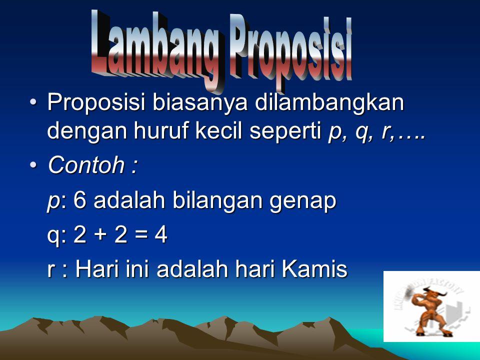 7 Satu atau lebih proposisi dapat dikombinasikan untuk menghasilkan proposisi baru.Satu atau lebih proposisi dapat dikombinasikan untuk menghasilkan proposisi baru.