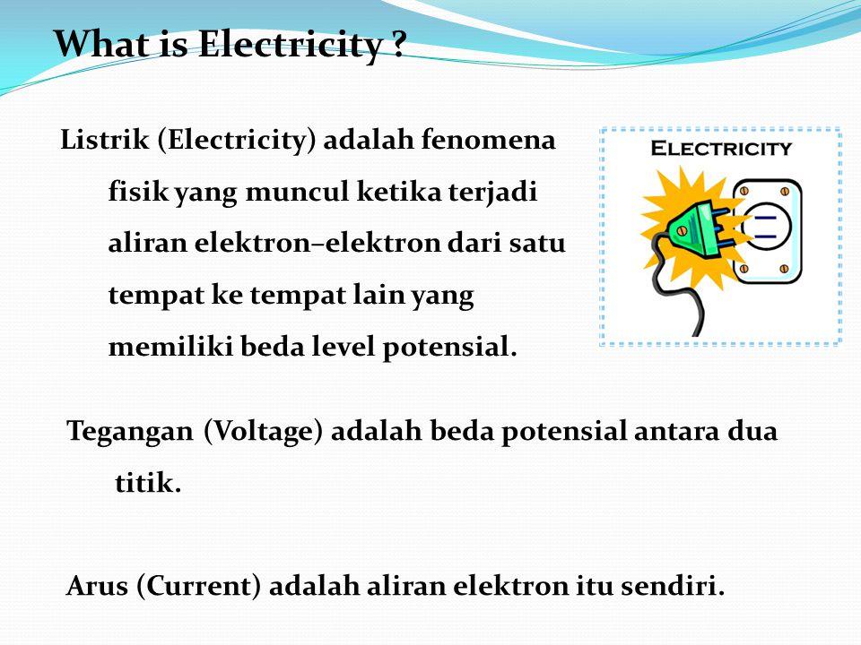 Listrik (Electricity) adalah fenomena fisik yang muncul ketika terjadi aliran elektron–elektron dari satu tempat ke tempat lain yang memiliki beda level potensial.