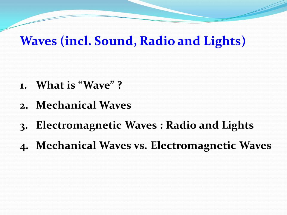 Spectrum of Electromagnetic Waves Electromagnetic Waves