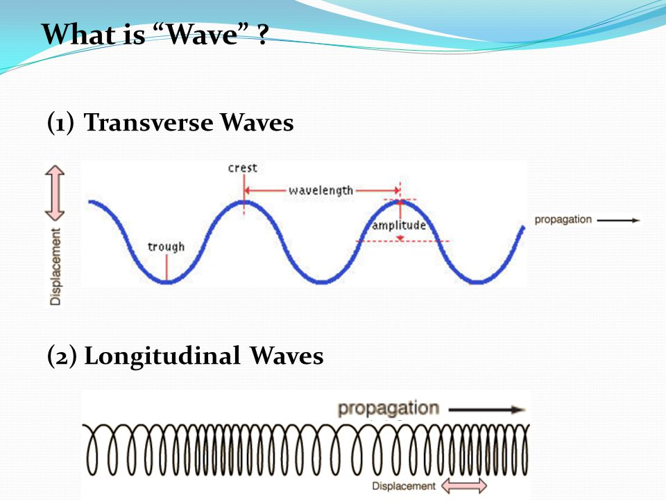 "(1)Transverse Waves (2)Longitudinal Waves What is ""Wave"" ?"
