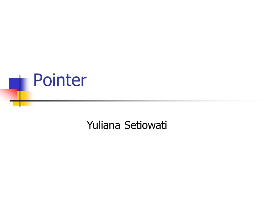 Pointer Yuliana Setiowati