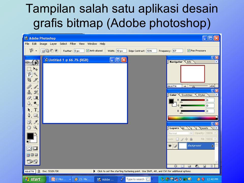 Ketajaman warna dan detail gambar pada tampilan bitmap bergantng pada banyaknya pixel warna atau resolusi yang berbentuk gambar tersebut. Satuan ukura