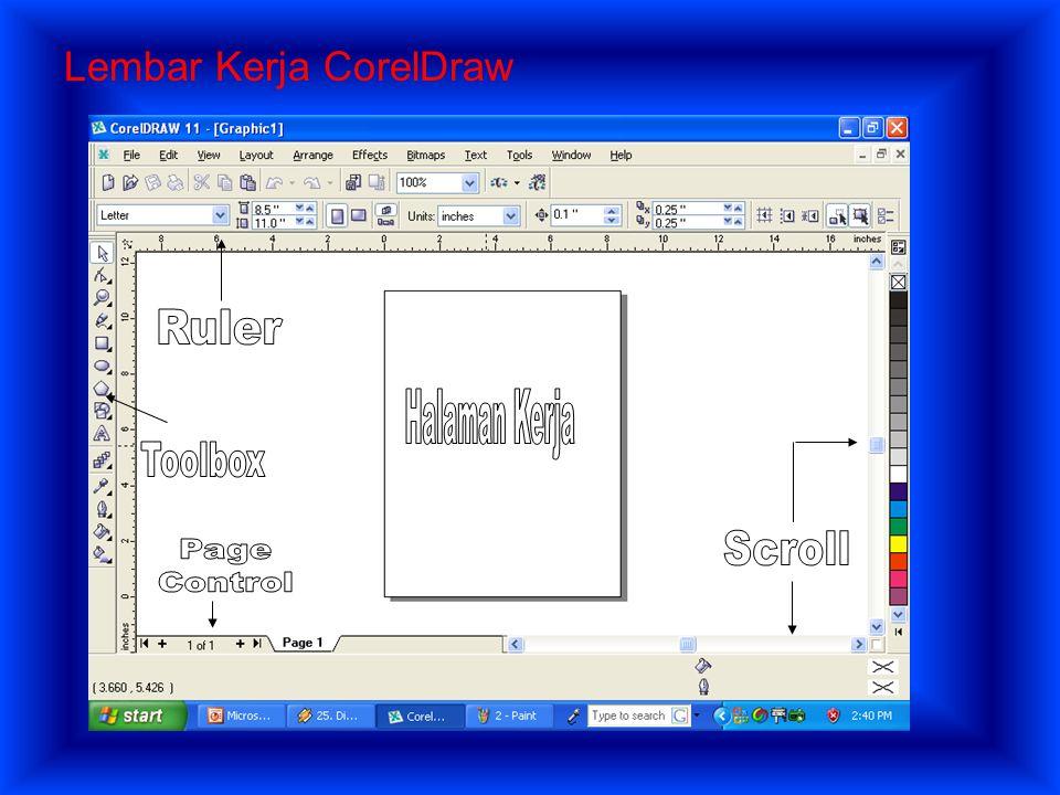 B.Penggunaan Program Aplikasi Grafis Berbasis Vektor CorelDraw merupakan produk dari Corel Corporation dengan sistem Operasi Windows