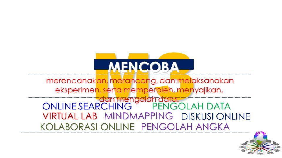 M3 MENCOBA merencanakan, merancang, dan melaksanakan eksperimen, serta memperoleh, menyajikan, merencanakan, merancang, dan melaksanakan eksperimen, s