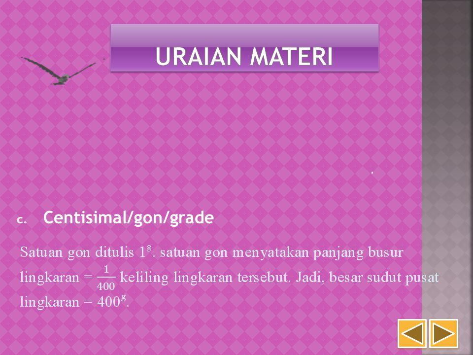 c. Centisimal/gon/grade