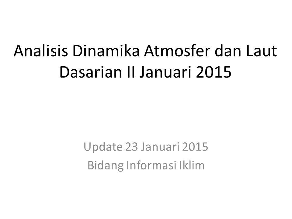 Analisis Dinamika Atmosfer dan Laut Dasarian II Januari 2015 Update 23 Januari 2015 Bidang Informasi Iklim