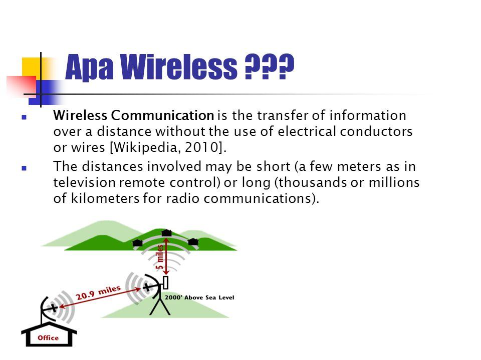 Perkembangan Wireless (1)