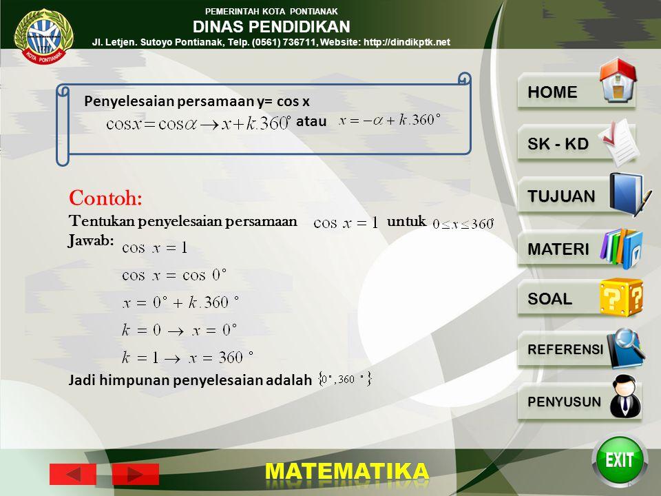 PEMERINTAH KOTA PONTIANAK DINAS PENDIDIKAN Jl. Letjen. Sutoyo Pontianak, Telp. (0561) 736711, Website: http://dindikptk.net 5 Penyelesaian Persamaan u