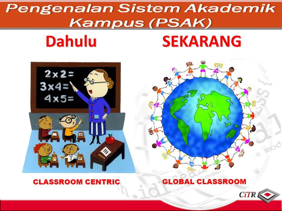 Dahulu CLASSROOM CENTRIC GLOBAL CLASSROOM SEKARANG
