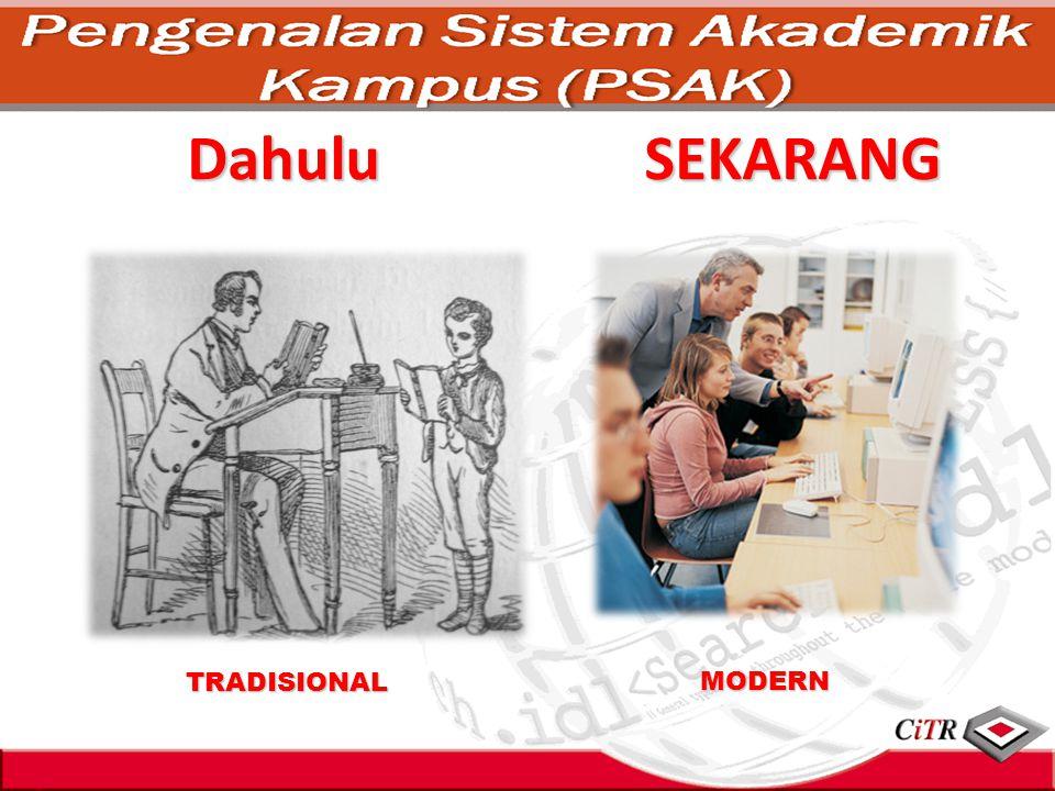 Dahulu TRADISIONAL MODERN SEKARANG