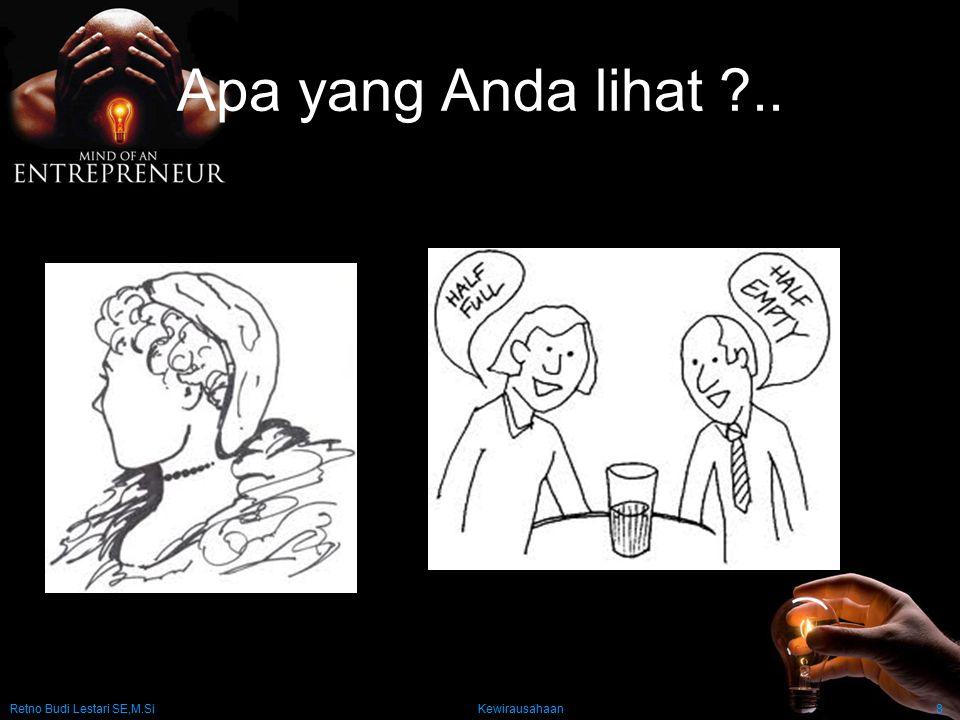 Retno Budi Lestari SE,M.Si Kewirausahaan8 Apa yang Anda lihat ?..
