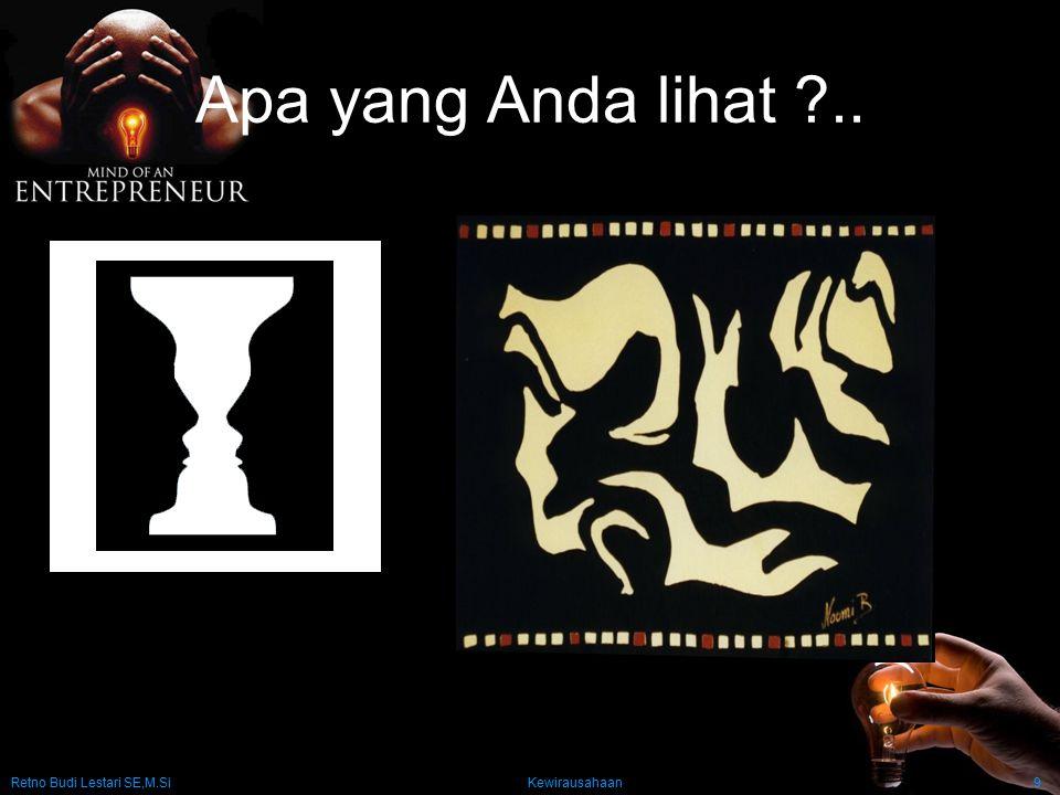 Retno Budi Lestari SE,M.Si Kewirausahaan9 Apa yang Anda lihat ?..