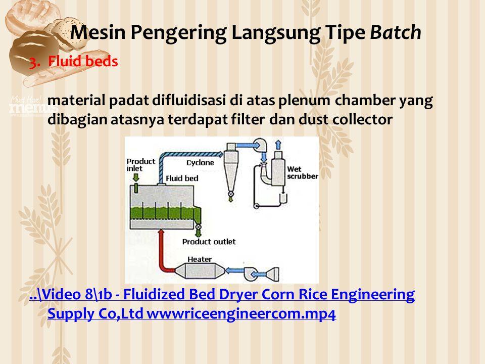3. Fluid beds material padat difluidisasi di atas plenum chamber yang dibagian atasnya terdapat filter dan dust collector..\Video 8\1b - Fluidized Bed