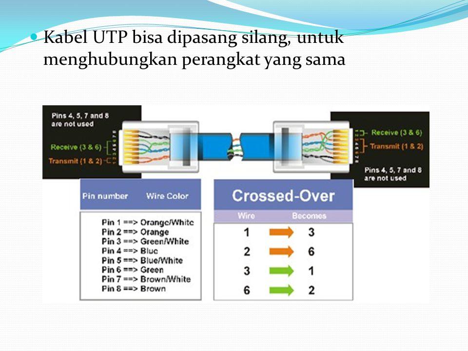 Kabel UTP bisa dipasang silang, untuk menghubungkan perangkat yang sama