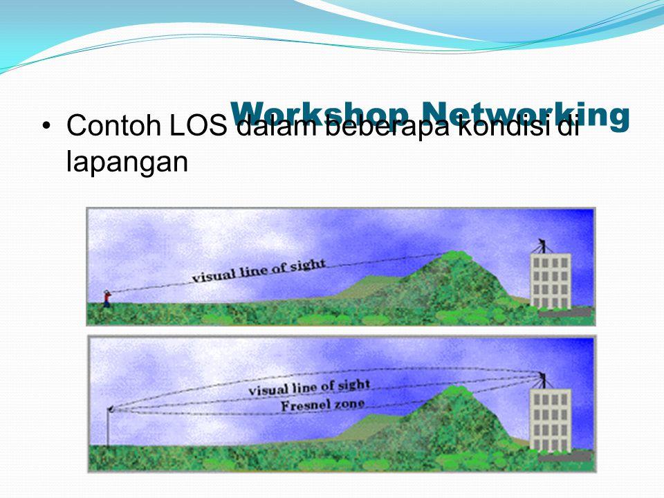 Workshop Networking Contoh LOS dalam beberapa kondisi di lapangan