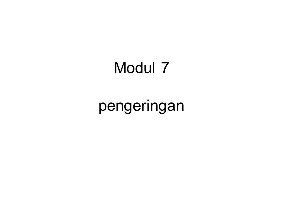 Soal 12.3 Kurva pengeringan berlaku untuk pengeringan batch suatu padatan.