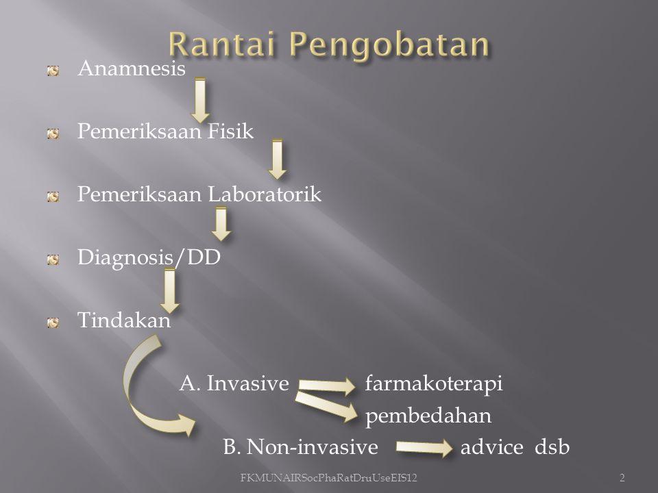 Anamnesis Pemeriksaan Fisik Pemeriksaan Laboratorik Diagnosis/DD Tindakan A.