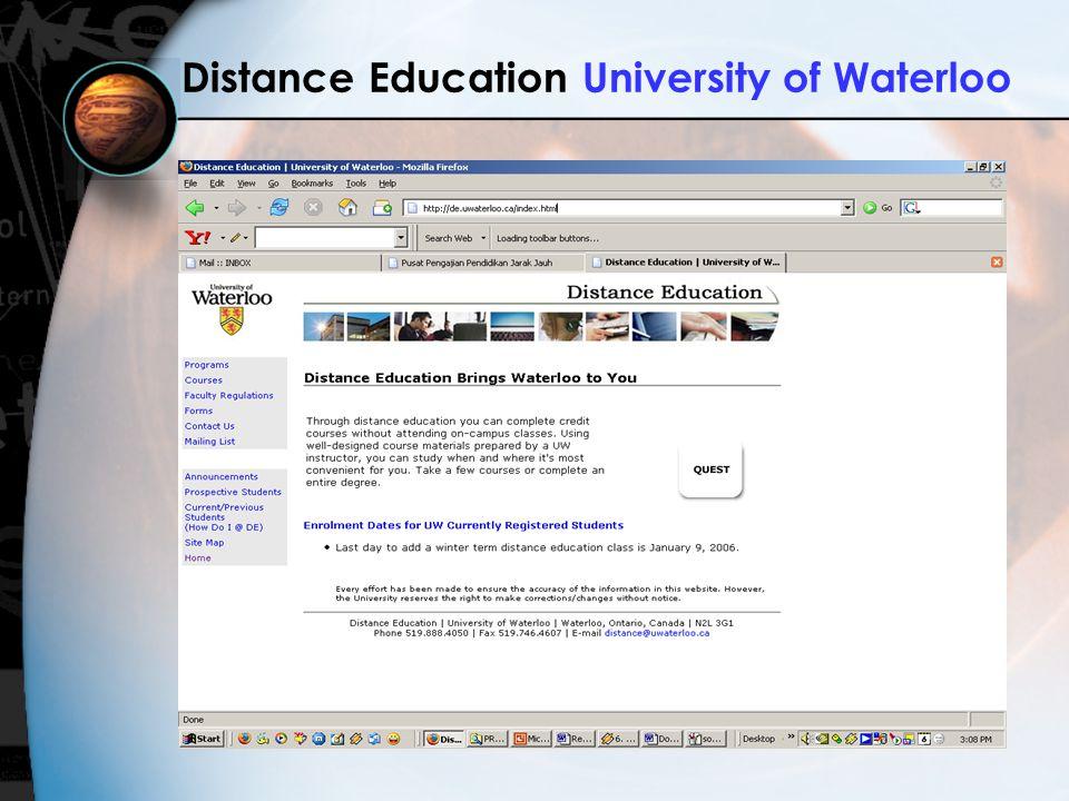 Distance Education University of Waterloo