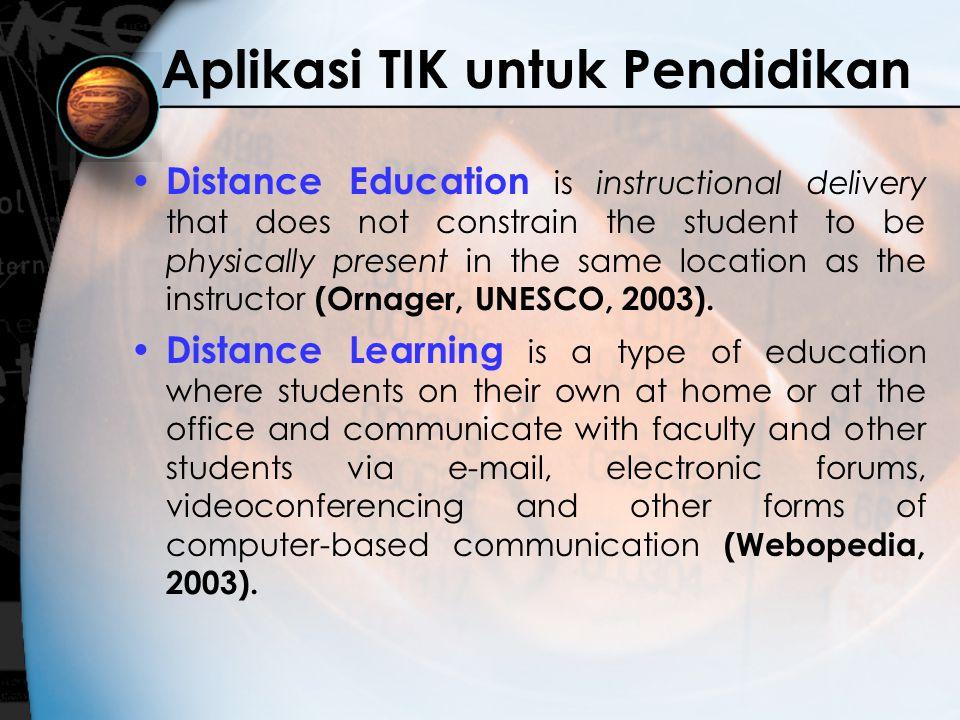 Content Leveling Level 1 –Materi yang sama dengan materi pembelajaran konvensional, misalnya dalam format File PowerPoint Level 2 –Materi berbasis Multimedia (audio, video, animasi) dan Interaktif Level 3 –Bahan Pengayaan dan Bank Soal