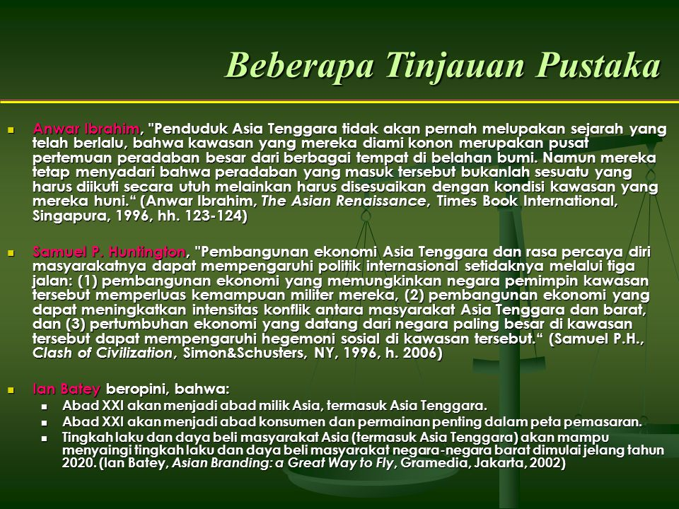 Beberapa Tinjauan Pustaka Anwar Ibrahim,