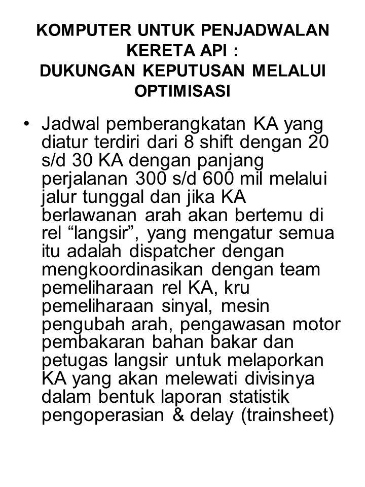 Hasilnya : - Kru KA sekarang lebih menghemat waktu dan menjalankan KA secara konsisten - Penghematan Bahan Bakar dan peralatan lokomotif bisa dikurangi - Menurun delay KA, sehingga mengakibatkan penghematan $316.000.