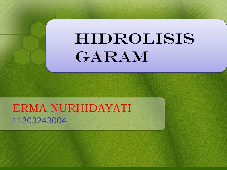 ERMA NURHIDAYATI 11303243004 HIDROLISIS GARAM