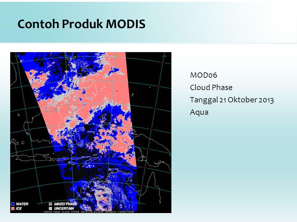 Contoh Produk MODIS MOD06 Cloud Phase Tanggal 21 Oktober 2013 Aqua