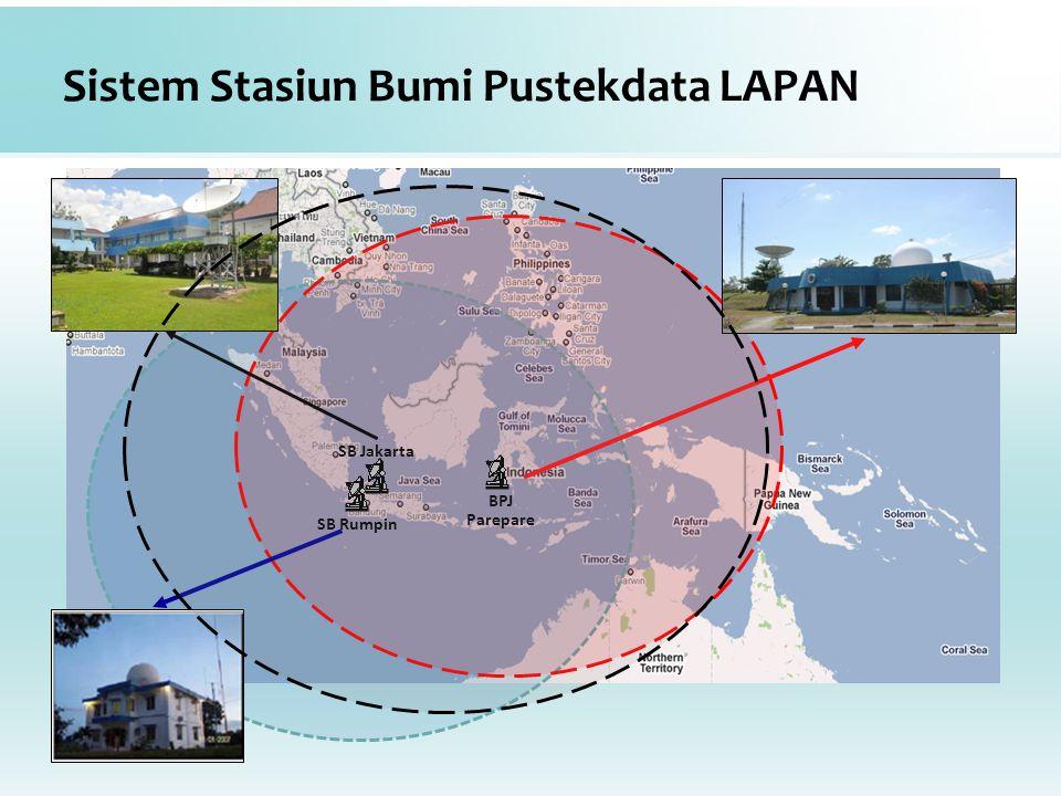 Sistem Stasiun Bumi Pustekdata LAPAN BPJ Parepare SB Rumpin SB Jakarta