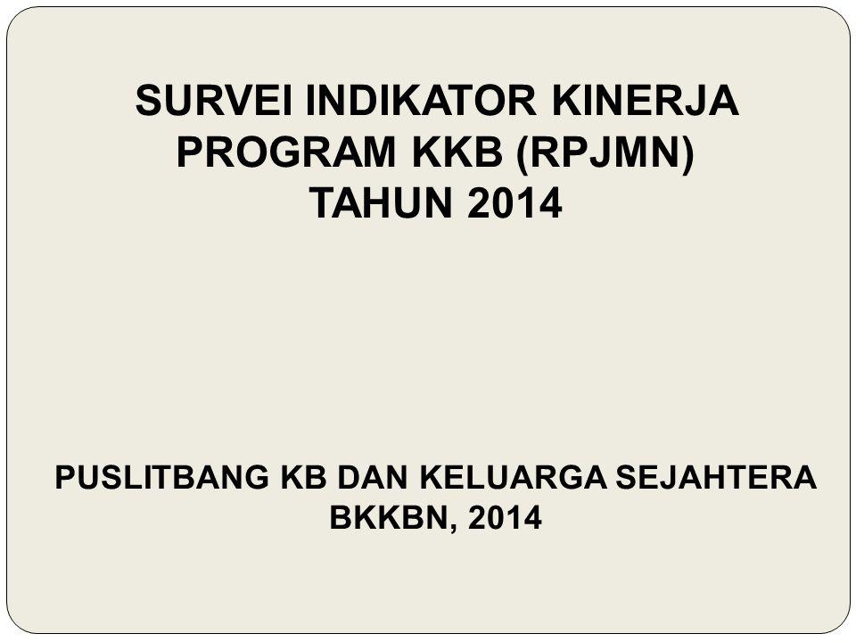 SURVEI INDIKATOR KINERJA PROGRAM KKB (RPJMN) TAHUN 2014 PUSLITBANG KB DAN KELUARGA SEJAHTERA BKKBN, 2014