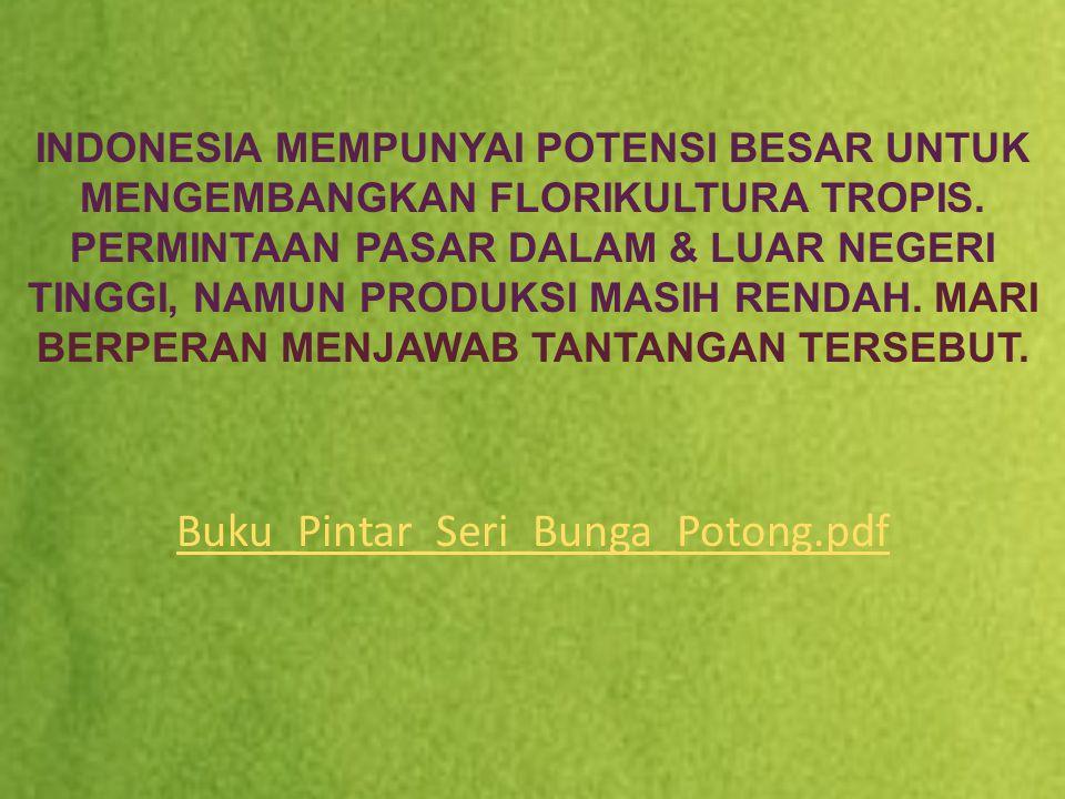 INDONESIA MEMPUNYAI POTENSI BESAR UNTUK MENGEMBANGKAN FLORIKULTURA TROPIS.