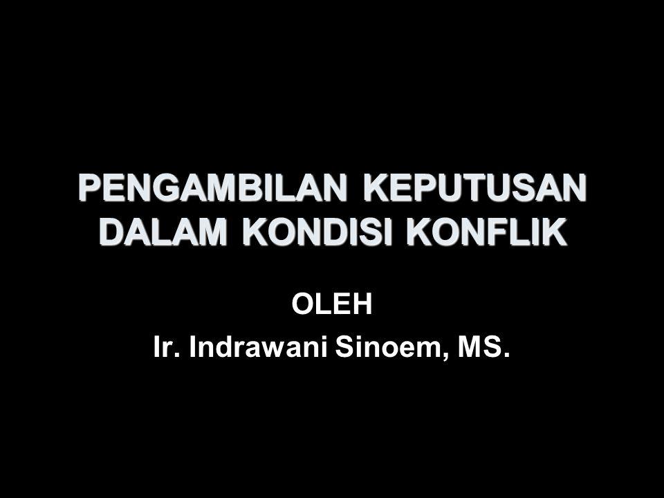 PENGAMBILAN KEPUTUSAN DALAM KONDISI KONFLIK OLEH Ir. Indrawani Sinoem, MS.