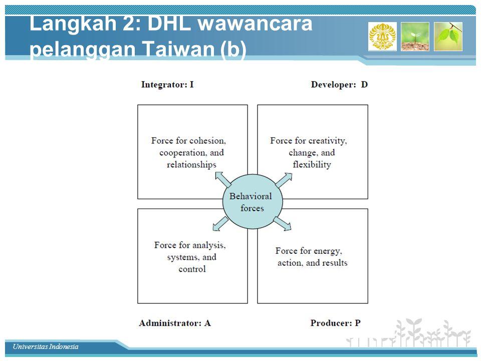 Universitas Indonesia Langkah 2: DHL wawancara pelanggan Taiwan (b)