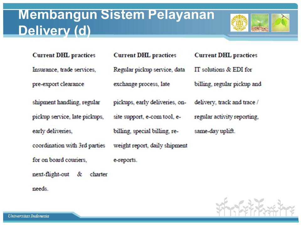 Universitas Indonesia Membangun Sistem Pelayanan Delivery (d)