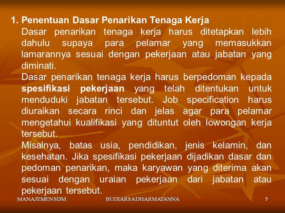MANAJEMEN SDMBUDIARSA DHARMATANNA4 Karyawan/Pegawai : Seseorang pekerja tetap yang bekerja di bawah perintah orang lain dan mendapat kompensasi serta