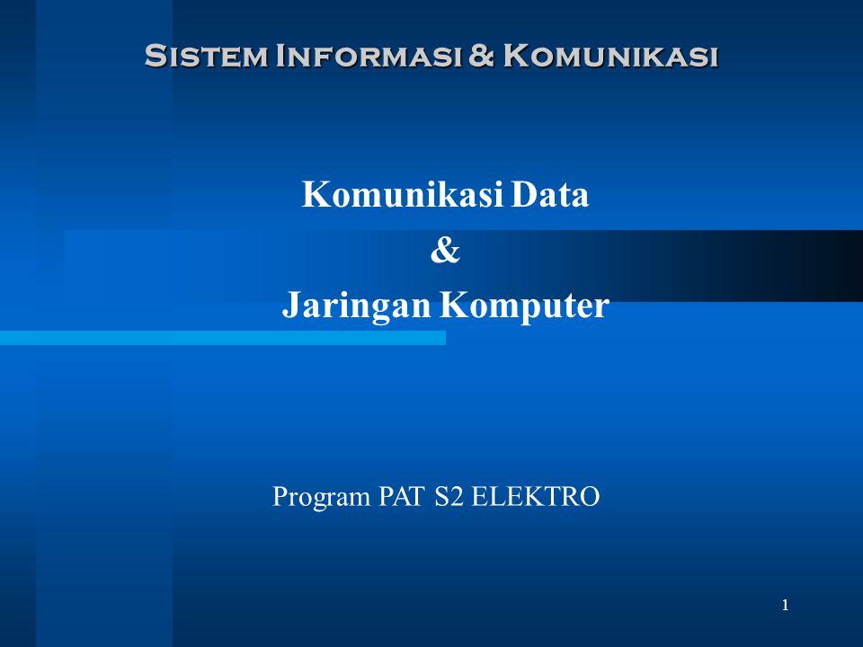 1 Sistem Informasi & Komunikasi Komunikasi Data & Jaringan Komputer Program PAT S2 ELEKTRO