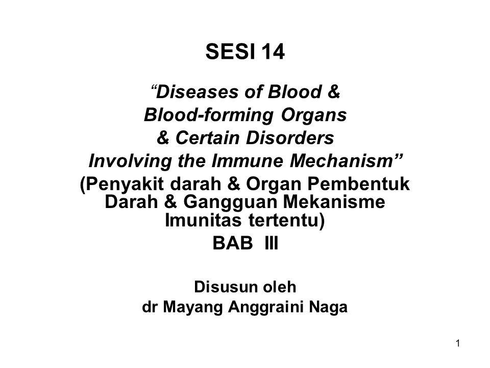 22 D59 Anaemia hemolytic acquired (didapat setelah lahir) D59.0 Anemia hemolitik autoimune drug-induced.